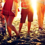 53032298 – teenagers friends beach party happiness concept